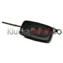Obal kľúča, holokľúč pre Audi Q3 trojtlačítkový vyskakovací