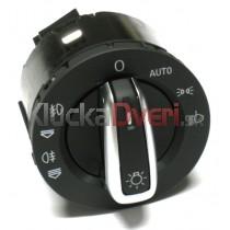 Vypínač svetiel pre Audi A6 C6, chrom, 4F1941531E
