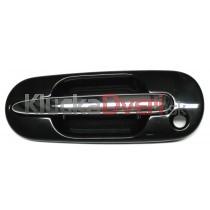 Kľučka dverí vonkajšia predná ľavá Rover 400, 416, 418, 420, čierna s chrómovom ručkou