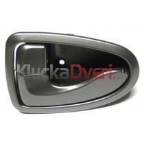 Kľučka dverí vnútorná ľavá Hyundai Accent, šedá