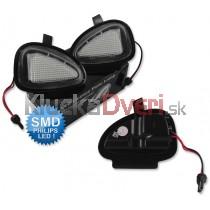 LED svetlo, podsvietenie spätného zrkadla, ľavé a pravé, VW Golf VI od 2008