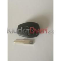 Obal kľúča, holokľúč pre Renault Kangoo, dvojtlačítkový, čierny