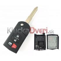 Obal kľúča, holokľúč pre Mazda 3, štvortlačítkový