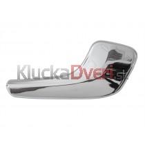 Kľučka dverí vnútorná prava Opel Corsa D, chrom