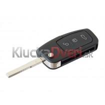 Obal kľúča, holokľúč pre Ford Fusion, trojtlačítkový
