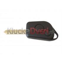 Obal kľúča, holokľúč pre Citroen Xantia, dvojtlačítkový