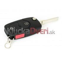 Obal kľúča, holokľúč, dvojtlačítkový  pre Audi Q3