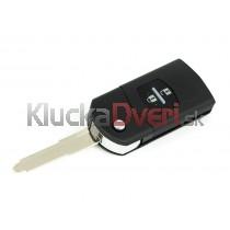 Obal kľúča, holokľúč pre Mazda 2, dvojtlačítkový