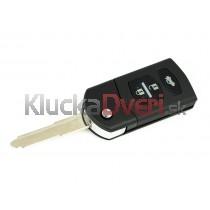 Obal kľúča, holokľúč pre Mazda 2, trojtlačítkový