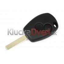 Obal kľúča, holokľúč pre Renault Modus, dvojtlačítkový