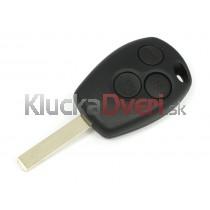 Obal kľúča, holokľúč pre Renault Modus, trojtlačítkový