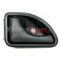 Kľučka dverí vnútorná ľavá Renault Twingo, čierna