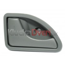 Kľučka dverí vnútorná ľavá Renault Kangoo, šedá